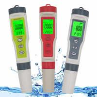 バックライトとデジタル水テスター 4 で 1/3 で 1 テスト EC/TDS/PH/温度水質モニターテスターキットプール飲料水