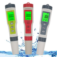 With Backlight Digital Water Tester 4 in 1/3 in 1 Test EC/TDS/PH/TEMP Water Quality Monitor Tester Kit for Pools Drinking Water