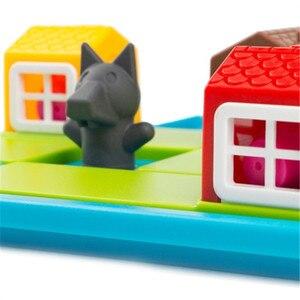 Image 5 - ילד חכם הסתר & Seek לוח משחקי שלוש חזרזירי 48 אתגר עם פתרון משחקי IQ הדרכה צעצועים לילדים oyuncak