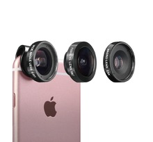 Meike MK-Pro Lens 3in1 Cell Phone Camera Lens Kit-Super Fish Eye+Wide Angle+Macro Lenses+Universal Clip for Apple Android