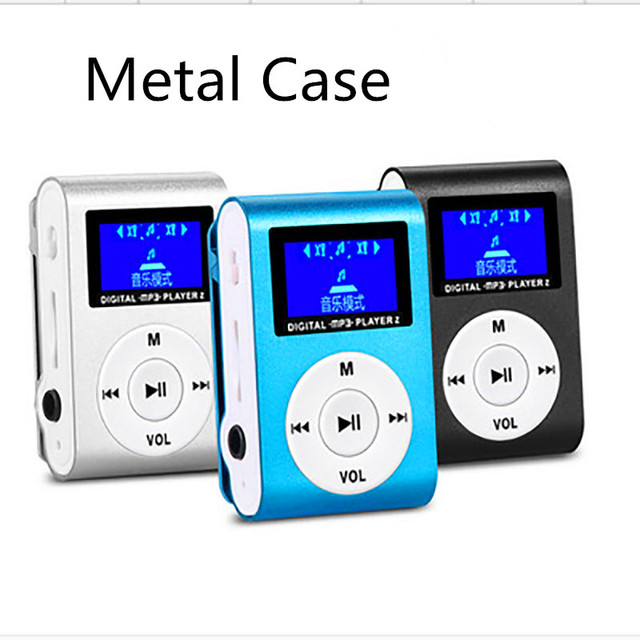 Mini MP3 Player with Clip Mini LCD Screen Support 16GB Micro SD TF Card Portable Sports MP3 player for Jogging Running