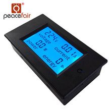 PEACEFAIR Digital AC 80-260V 20A 4IN1 voltage current power energy Amps Volt Monitor Voltmeter Ammeter Watt Panel Meter