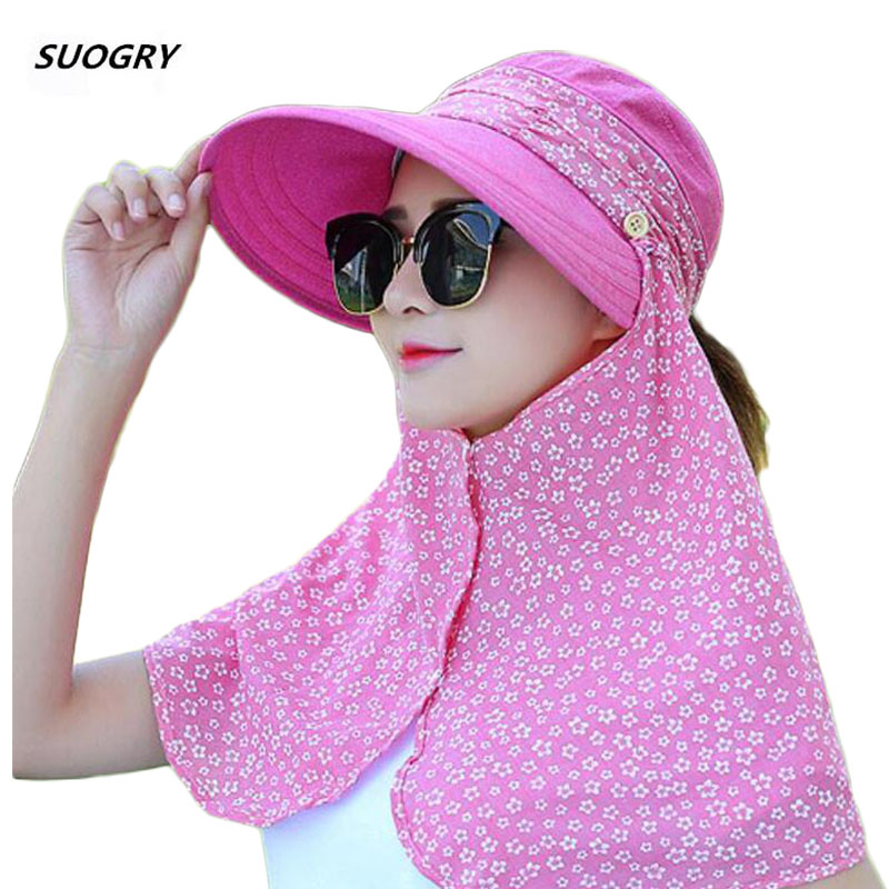 SUOGRY Women Sun Hat Summer UV Protection Fishing Hat Super Wide Brim Outdoor Bucket Hat Visor for Beach Hiking Traveling