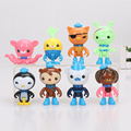 8pcs/set New Cartoon The Octonauts Action Figure Toys Super Lovely Captain Barnacles Medic Peso Figures Model toy for kid gift