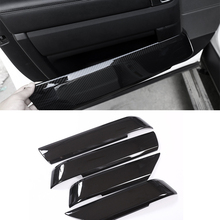 цена на For Land Rover Range Rover Sport RR Sport 2014 - 2017 4pcs Carbon Fiber Texture Door Handle Panel Armrest Cover Decorative Trim