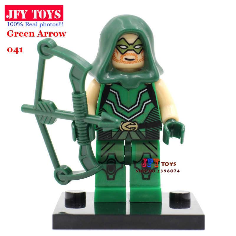 Đĩa Đơn Bán Mũi Tên Xanh Oliver Queen Có Nơ DC Siêu Anh Hùng Trong Lắp Ráp Khối Xây Dựng Đồ Chơi Trẻ Em Brinquedos Menino