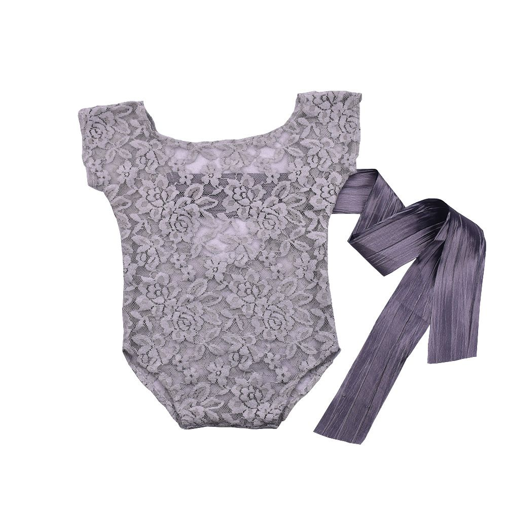 Newborn Photography Props Costume Outfit Baby Photography Props Accessories Kids Girls Floral Lace Top Baby Clothes   Romper