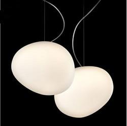 Darmowa wysyłka nieregularne brukowiec proste nowoczesny szklany żyrandol kamień restauracja Bar Cafe oświetlenie|Wiszące lampki|Lampy i oświetlenie -
