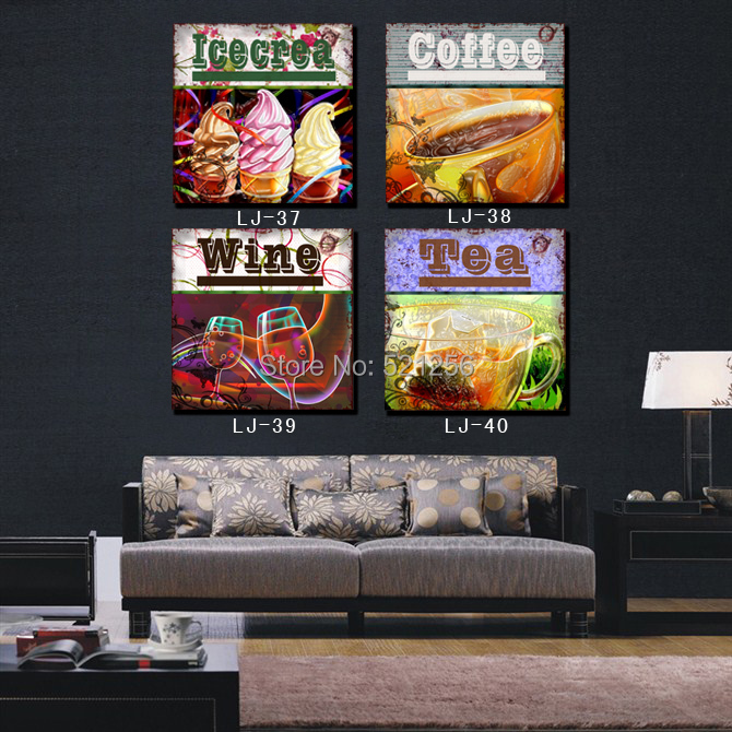 Aliexpress Com Buy 4 Panels Modern Printed Coffee Canvas: Modern Wall Art Home Decoration Printed Oil Painting