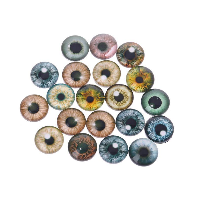 20Pcs Glass Doll Eyes Animal DIY Crafts Eyeballs For Dinosaur Eye Accessories Jewelry Making Handmade 8mm/12mm/18mm 95AE