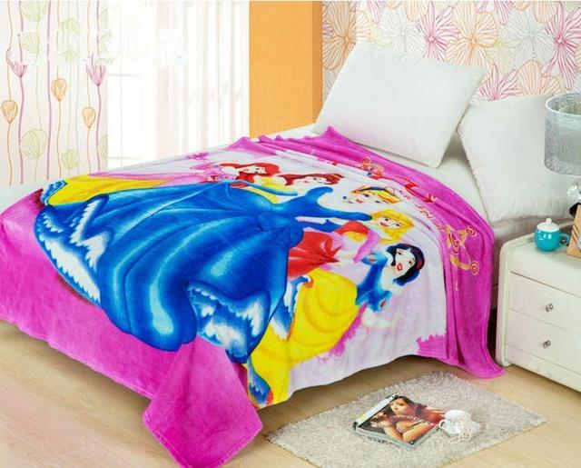 Envío libre manta de bebé coral polar manta de franela ropa de cama espesa aire acondicionado historieta de la tela escocesa mantas 200 cm X 230 cm