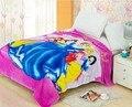 Frete grátis flanela cama cobertor de lã coral engrossar ar condicionado cobertores xadrez caricatura 200 cm X 230 cm