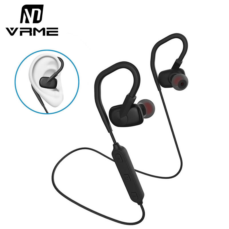 Sport Headphones Wireless Headset Waterproof Stereo Bass Bluetooth Earphone with Microphone Adjustable Ear Hooks for iPhone 7 6S foldable bluetooth headphones stereo portable wireless earphone sport headset with microphone for iphone 6s plus tv auriculares