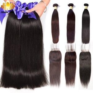 Image 1 - Aliafee ブラジルストレートヘアの束で非織り 3 バンドル情報 100% 人毛バンドルと閉鎖