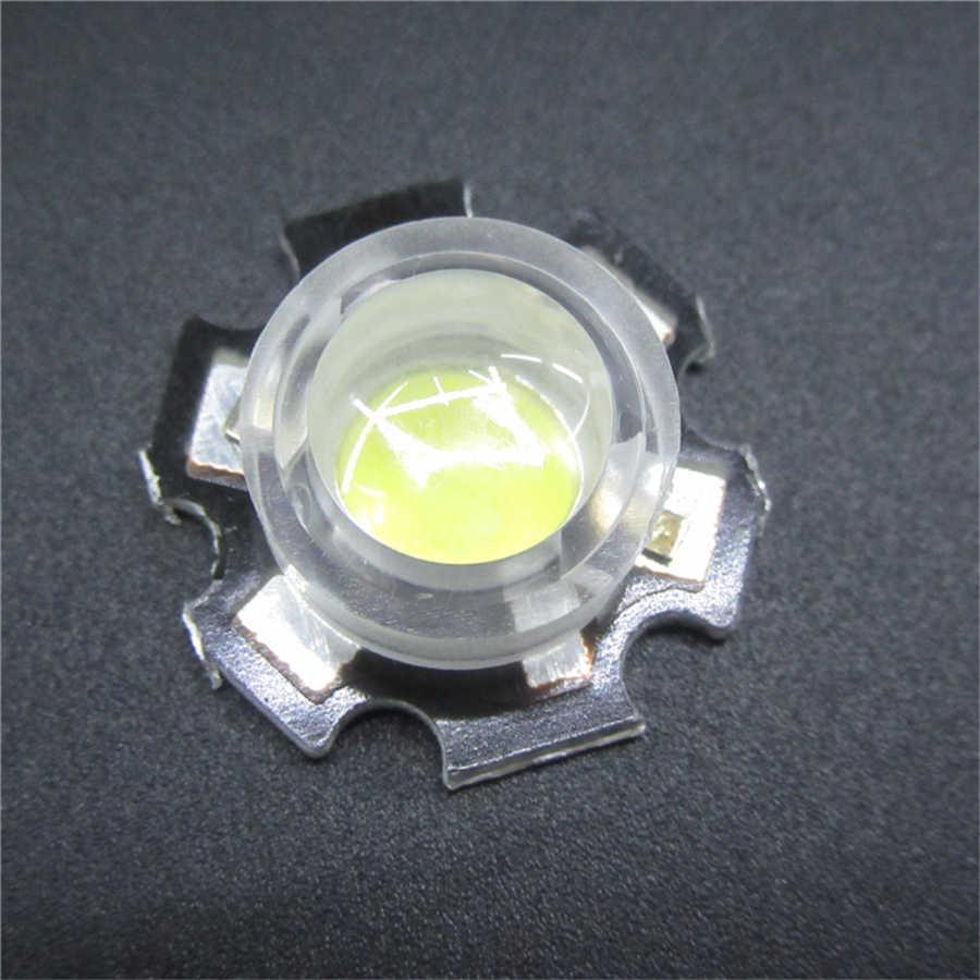 50 Uds. 13mm lente 15 30 45 60 90 100 grados 13mm Mini IR LED PCB ángulo lente para 1W 3W 5W LED lámpara convexa lentes