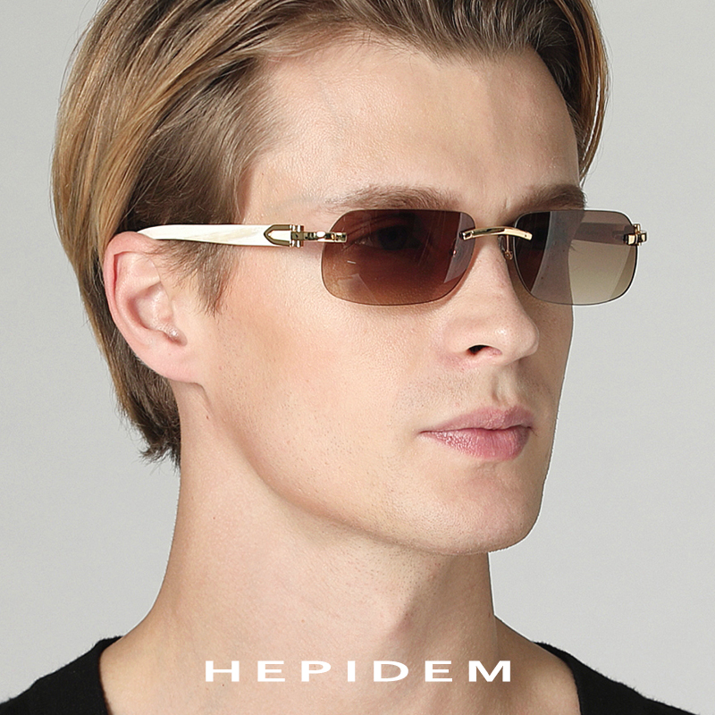 Glasses Frame Women 2018 New Squared Rimless High Quality Square Buffalo Horn Mens Sunglasses Luxury Eyewear Eyeglasses
