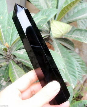 Настоящий большой натуральный черный обсидиан, кварцовый кристаллический, одинарный, медный, лечебный, 15-16 см, украшения из 100% латуни