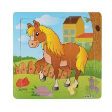 Деревянного Коня Головоломки Игрушки Для Детей Образование И Обучение Головоломки Игрушки оптом