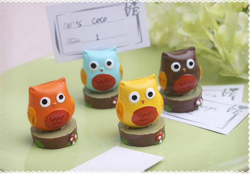 20pcs Colorful Owl Name Number Table Place Card Holder For Wedding Party Anniversary Venue Decoration number