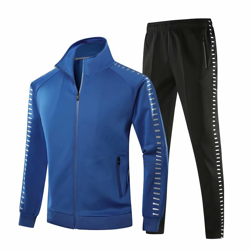 Sportswear Men Knitting Sport Suit Long Sleeve Team Game Tracksuit Male 2019 New Windproof Jogger Workout Gym Sportsuit Run Sets tights
