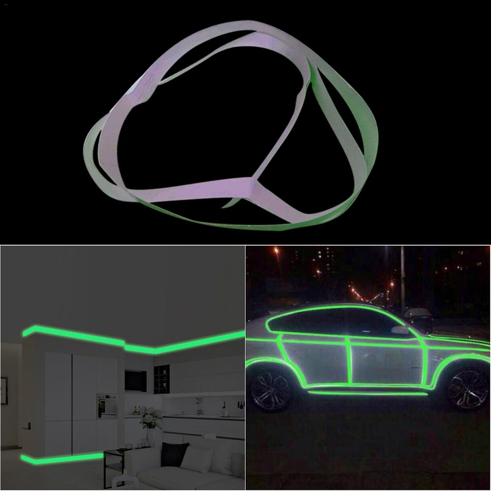 PVC Luminous Wall Sticker Furniture Decoration Exit Passageway Warning Fluorescent Stripe Sticker Home Decoration 2cm X 100cm