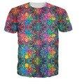 Recuerdos Camiseta Estilo Colorido Psicodélico Impresión 3D T Shirt Summer Hipster Hip Hop Tees Mujeres/Hombres Tops Pullover