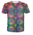 T-Shirt Colorido Psicodélico Impressão 3D T Shirt do Verão de Flashbacks Do Moderno Estilo Hip Hop T-shirt Mulheres/Homens Tops Bordado