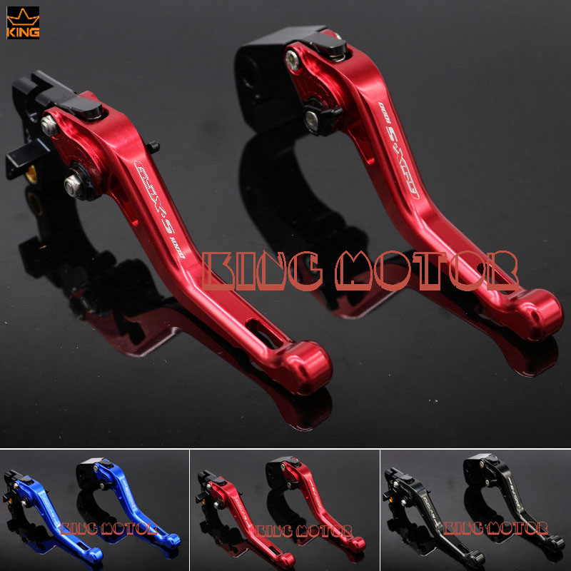For SUZUKI GSX-S1000F GSX-S1000 GSXS1000 2015-2016 Motorcycle Accessories Short Brake Clutch Levers LOGO GSX-S1000 Red for suzuki gsx s1000f gsx s1000 2015 2016 motorcycle accessories short brake clutch levers logo gsx s1000 blue