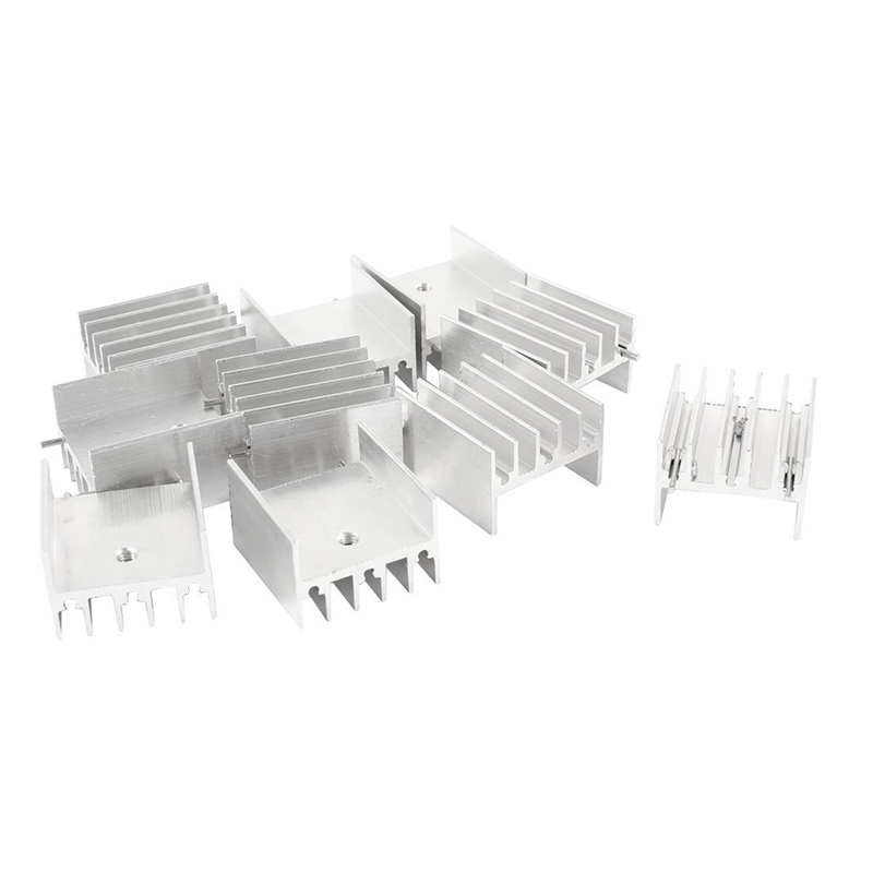 10pcs Aluminum Heatsink Cooling Fin 23 16 25MM for MOSFET IC in Fans Cooling from Computer Office