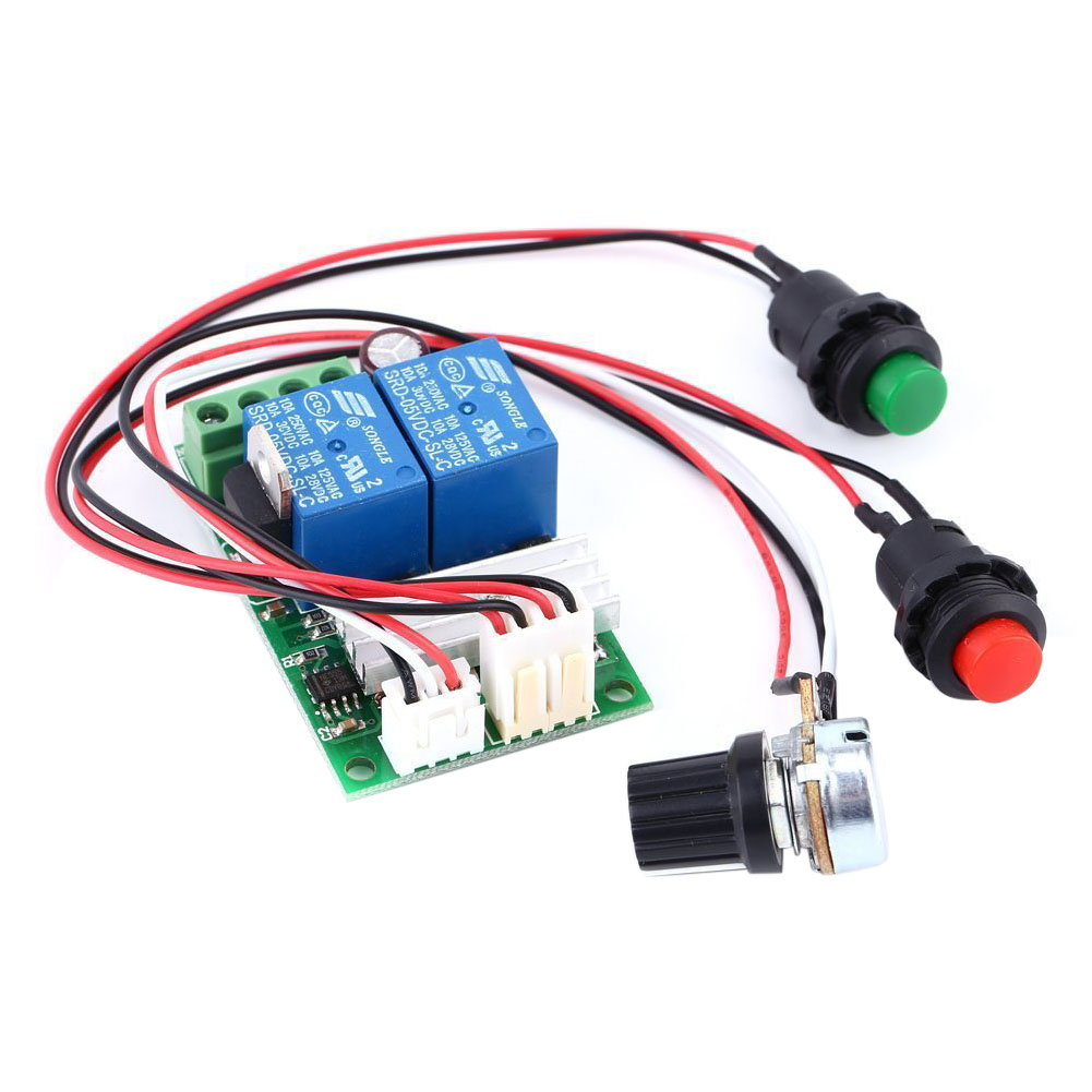 6V 12V 24V DC 3A DC Motor Speed Controller (PWM) Speed Adjustable Reversible Switch DC Motor Driver Reversing dc 6v 90v 15a pwm motor speed control switch governor green black