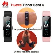 Новый huawei Honor Band 4 умный Браслет 50 м водостойкий цветной сенсорный экран сердечный ритм сон Snap умный Браслет