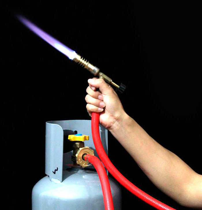 Liquefied gas spray gun gas Torch Refrigerator Conditioning Tool Electronic  ignition LPG GAS Welding Torches  - AliExpress