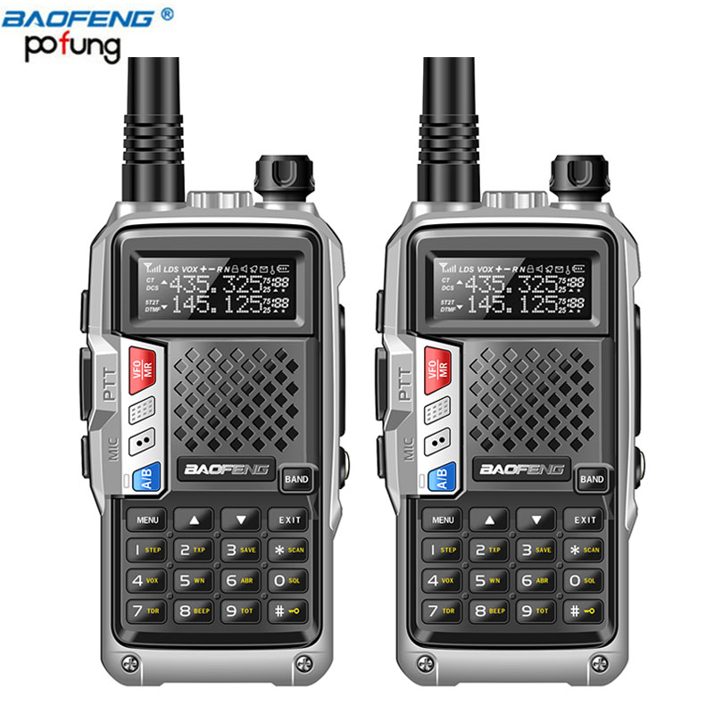 2pcs 2019 BaoFeng BF UVB3 PLUS Walkie Talkie 8W UHF VHF Dual Band Multiple Charging Mode