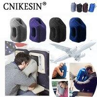 Viajes pillowInflatable almohadas de aire suave cojín de viaje portátil productos innovadores cuerpo respaldo Plegable golpe almohada para el cuello