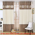 2016 Luxury stitching embroidery yarns blackout curtains bedroom finished curtain fabric living room window curtain