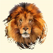 Fashion PVC Patch Clothes Large Lion head Thermal Transfer Printing T shirt Women iron on patches for clothing Girl Stickers fashion patch diy clothes super cat 3d stickers thermal transfer printing iron on patches for clothing t shirt free shipping