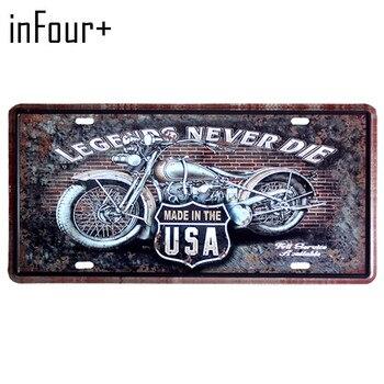 Abd Motosiklet Plaka Metal Plaka Araç Numarası Kalay Işaretleri Bar