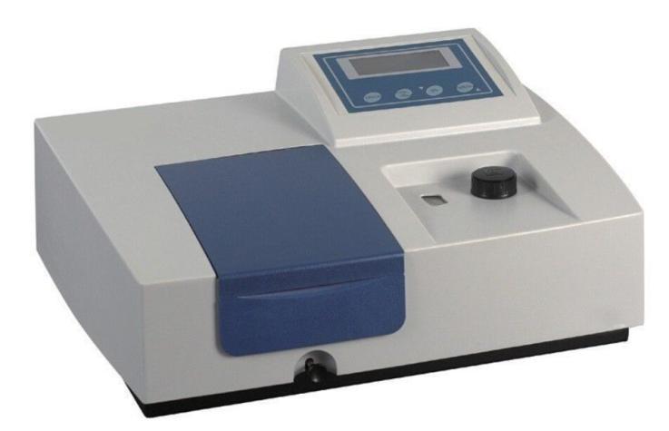 VIS Spectrophotometer Lab Equipment 360-1000 nm 4 nm 220/110V Ultraviolet Visible Spectrophotometer