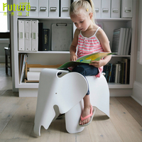 Elephant Shaped Kids Children Stool Cute Creative Chair Indoor Outdoor Waterproof PP Plastic Chairs Children Gift Bearing 150kg