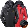 Hombres mujeres Invierno senderismo chaqueta de abrigo para los hombres al aire libre jaqueta Cazadora térmica acampar esquí deporte chaqueta impermeable a prueba de viento