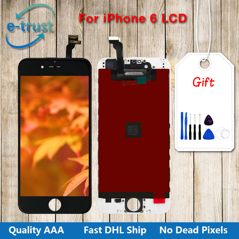 10PCS 4.7 inch Display touch screen No Dead Pixel Grade AAA with digitizer assembly replacement parts  LCD For iPhone 6 DHL ship grade a replacement lcd glass screen ecran touch display digitizer assembly for oppo r9 plus 6 0 inch white with free tool kit