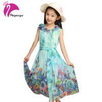Hot Sale Summer Bohemian Girls Dress Beach Dress Chiffon Ankle Length National Dress Baby Dress