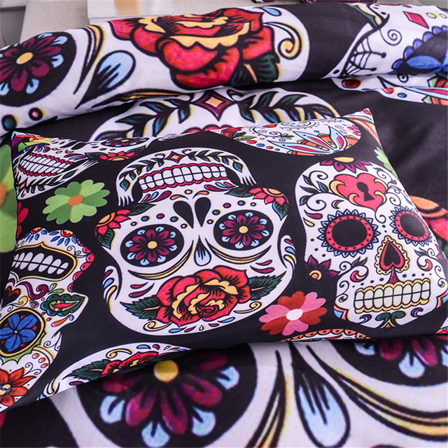 3D SUGAR SKULL BEDDING SETS