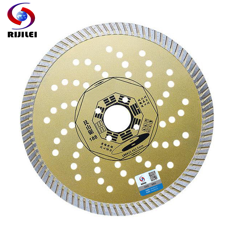 RIJILEI 230 * 25.4 * 2.5 cuchilla de corte de baldosas de cerámica ultradelgada sierra circular de piedra microcristalizada disco de corte de mármol MX03