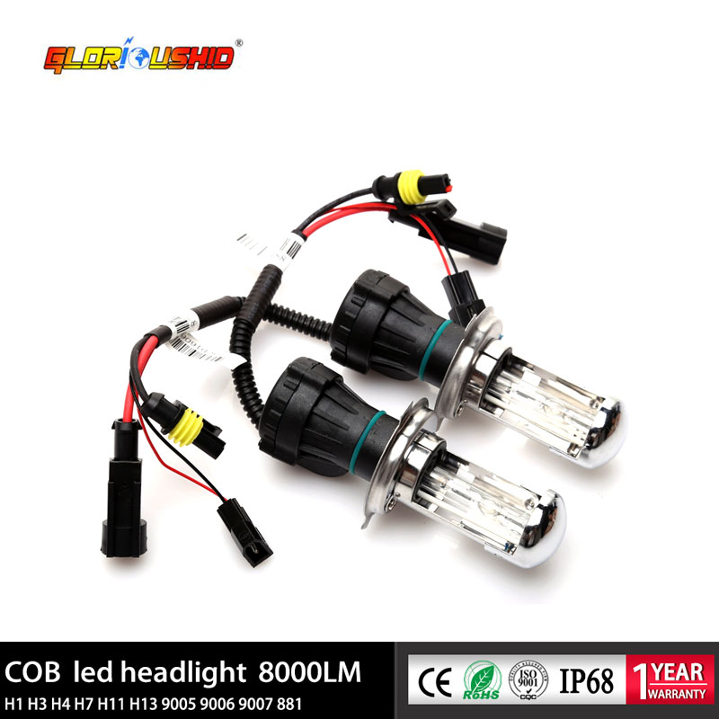 55W Bi Xenon H4 HID Bulb For Car Headlight 4300K 5000K 6000K 8000K H4 Xenon Bulb Car Light Source Bixenon Lamp