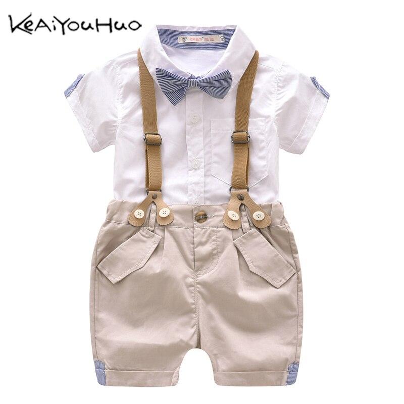 Korean Childrens Clothing Summer Five-Star Suit Vest Sports Two-Piece Suit