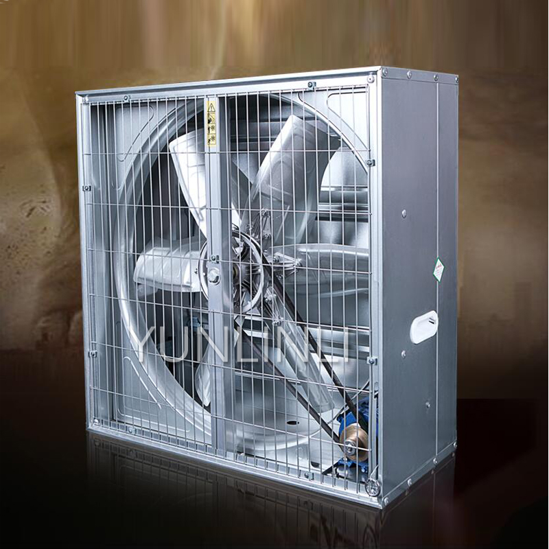 750W 220V/380V Industrial Exhaust Fan Negative Pressure Blower for Factory Greenhouse Breeding Ventilation
