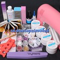 Professional False Nail Art Tips Gel Deco Tools Kit 9W UV Dryer Lamp Tube Set Gel Nail Kits With Lamp 34204