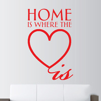 Home Heart Family Love Quote Wall Art Stickers Decals Vinyl Room Decor Hall