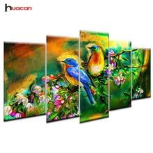 Huacan 5 pcs/set Diamond Painting Birds Multi-picture Combination Mosaic DIY Embroidery Cross Stitch Decor Gift Wall Art